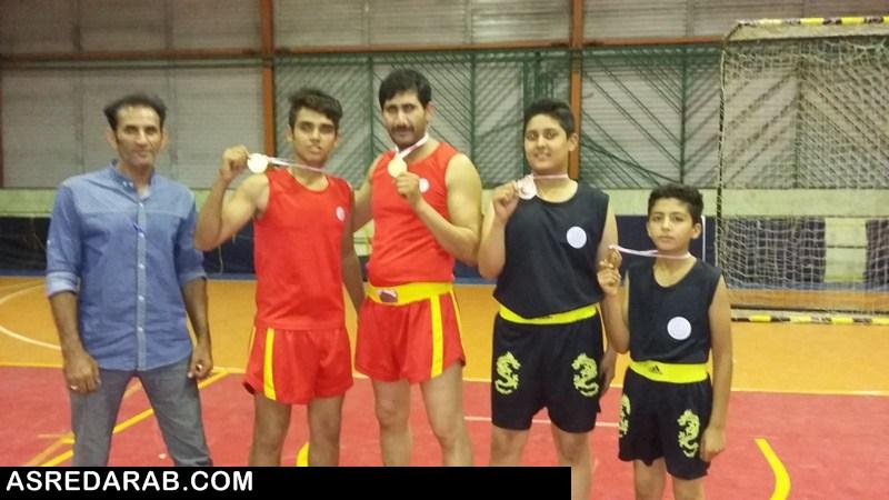 در خشش ووشو کاران دارابی در مسابقات قهرمانی کشور