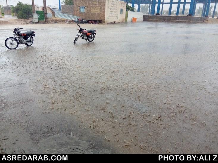 در روز جمعه در داراب ۲/۹ میلیمتر باران بارید