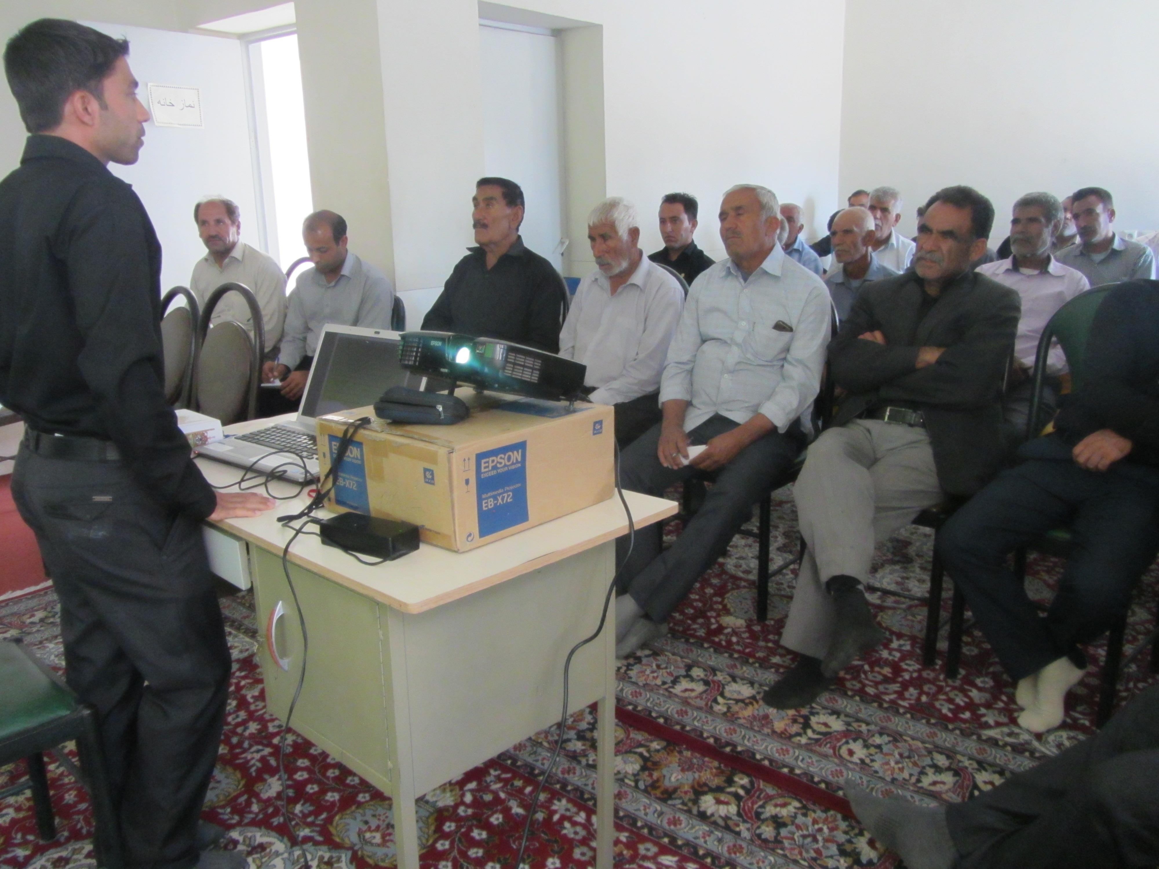 کارگاه آموزش پدافند غیرعامل در مرکز خدمات جهادکشاورزی فورگ برگزار شد