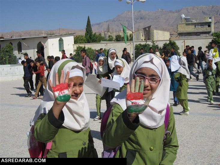 راهپیمایی روز ملی مبارزه با استکبار جهانی در رستاق