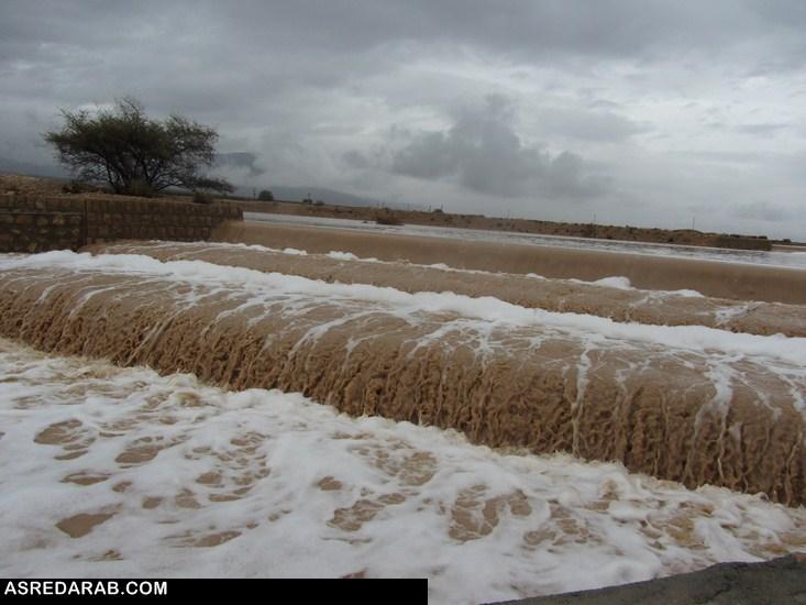 در پی بارش رحمت الهی ؛ سدهای تغذیه مصنوعی در داراب پر آب شدند