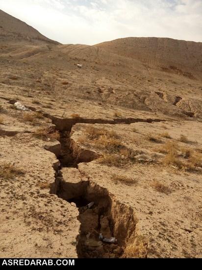 خطر فرونشست زمین بیخ گوش دارابگرد/ بزگترین دیوار گلی جهان ترک برداشت