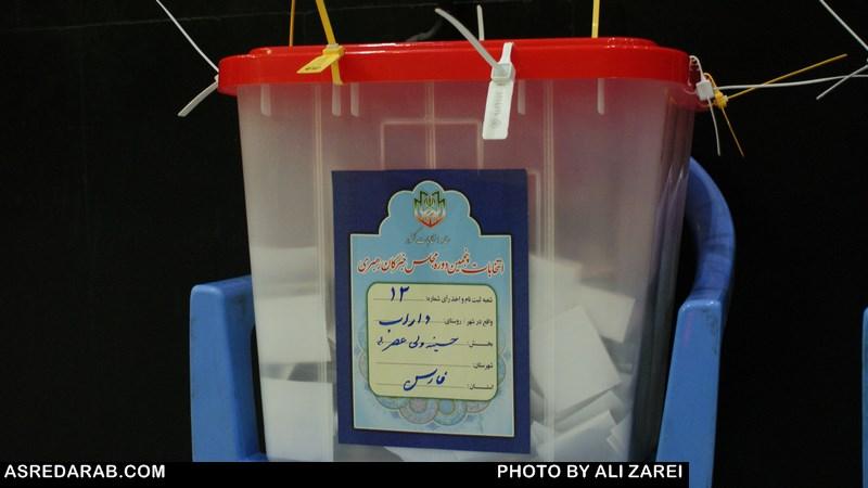 نتیجه اخذ رأی انتخابات مجلس خبرگان رهبری در شهرستان داراب اعلام شد