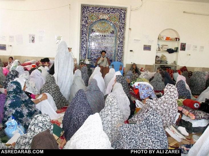 مراسم معنوی اعتکاف در دهستان نصروان شهرستان داراب برگزار شد