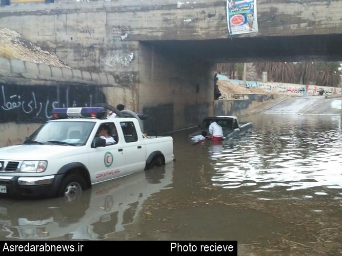 نزول رحمت الهی در داراب همه را غافل گیر کرد/ بارش ۲۱ میلی متر باران در داراب
