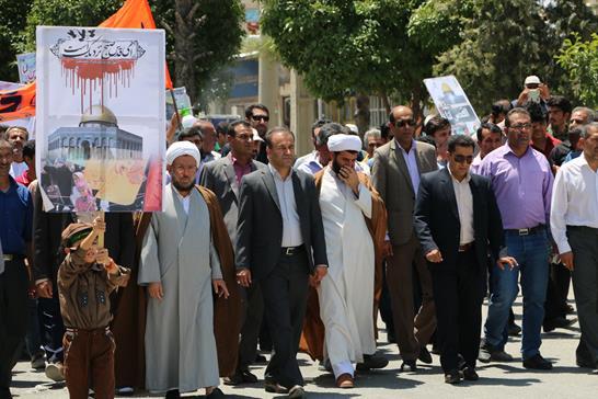 فرماندار داراب در راهپیمایی روز قدس در شهر جنت: دنیای استکبار تلاش می کنند تا بین دولت های اسلامی اختلاف بیاندازند