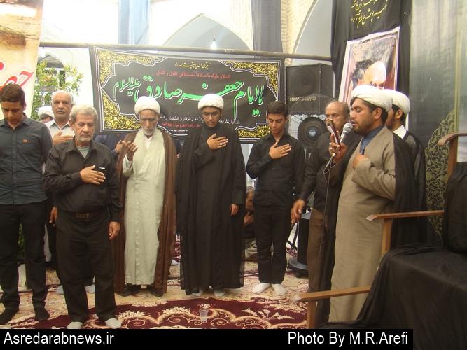 مراسم عزاداری امام جعفر صادق در حوزه علمیه داراب برگزار شد/گزارش تصویری