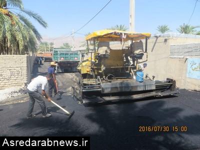 با همت و تلاش شهرداری و شورای اسلامی شهر دوبرجی، تمام خیابان های این شهر آسفالت شده است
