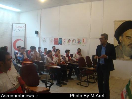 دوره تخصصی پشتیبانی در عملیات به میزبانی داراب برگزارشد/ حیدری رئیس هلال احمر داراب: آمادگی برگزاری دوره های آموزشی در سطح استان و کشور را داریم/مردم در آموزش های امدادی شرکت کنند