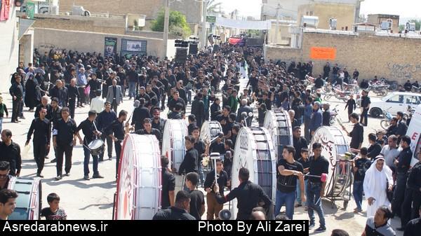 عزاراری مردم داراب در تاسوعای حسینی/گزارش تصویری۱