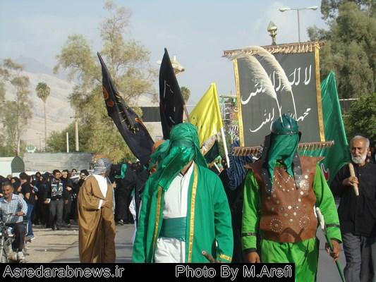 حرکت نمادین کاروان حسینی همراه با اجرای تعزیه حضرت حرّ/ گزارش تصویری