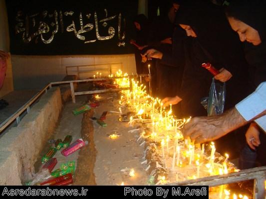 مراسم سنتی شمع گذاری در شب عاشورای حسینی