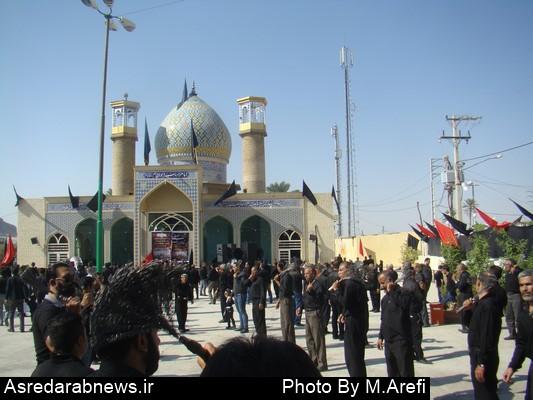عزاداری عاشورای حسینی همراه با  نماز  جماعت ظهر عاشورا  در داراب/ گزارش تصویری