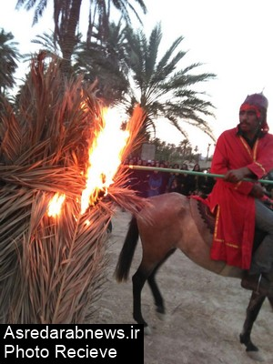 تعزیه تاسوعای حسینی در جوار گلزار شهدای قلعه نو فورگ برگزار شد