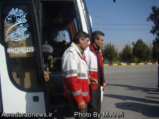 بازگشت تیم درمانی جمعیت هلال احمر داراب پس از خدمات رسانی به زائرین اربعین حسینی