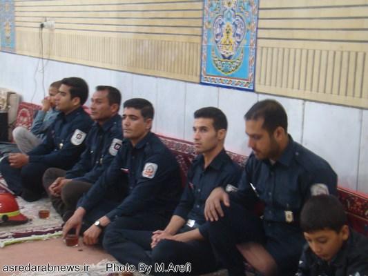 مراسم بزرگداشت شهدای آتشنشان حادثه پلاسکو در داراب برگزار شد