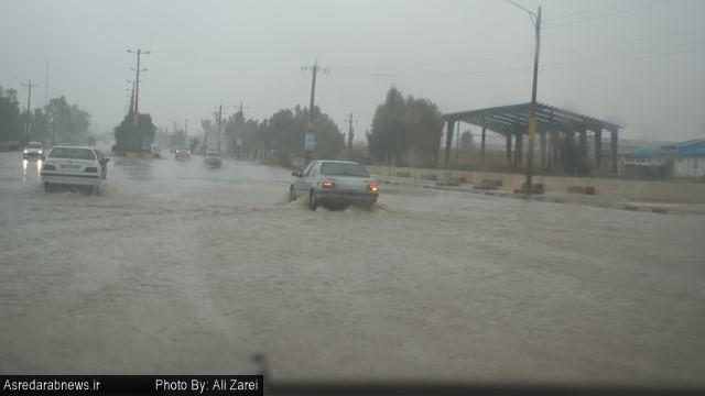 آغاز موج اول بارش ها در داراب/ هدیه زمستانی برای لب های تشنه زمین / گزارش تصویری