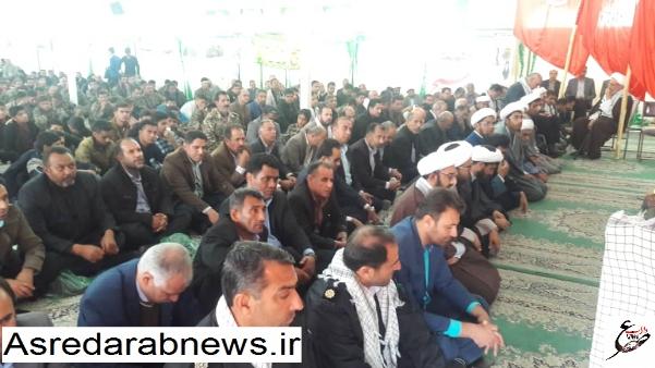 تجدید میثاق  با آرمان های امام خمینی(ره) در همایش بزرگ شکوه و اقتدار بسیجیان داراب