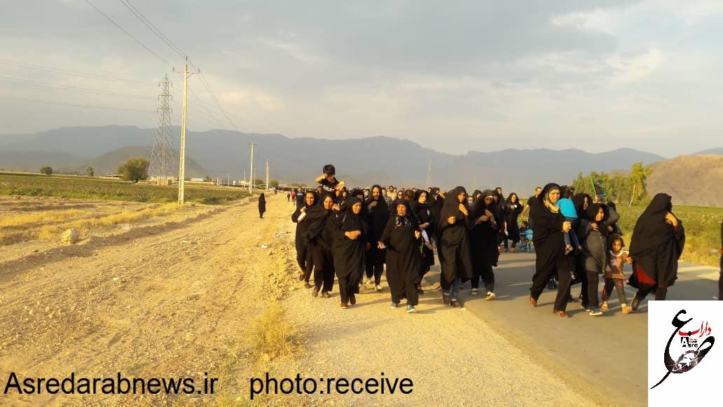 مراسم پیاده روی بزرگ و با شکوه ۲۸ صفر در داراب برگزار شد