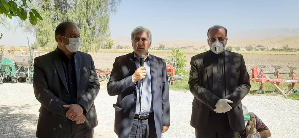 معاون وزیر جهاد کشاورزی از پروژه افزایش عملکرد گندم (بنیان) شهرستان داراب بازدید کرد