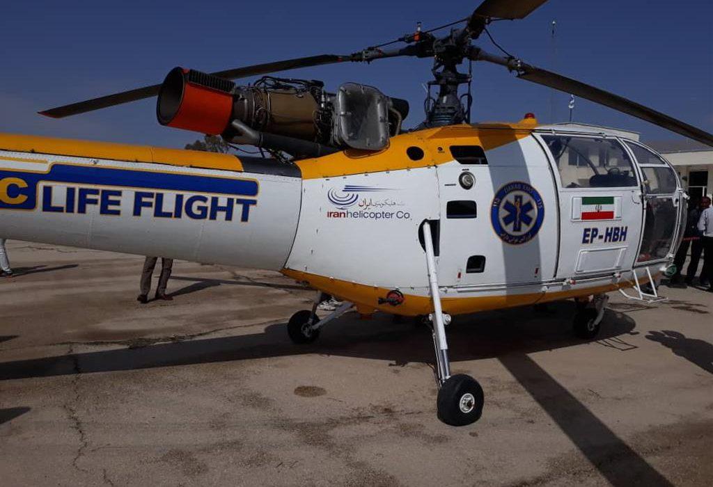 اعزام هوایی جوان زرین دشتی به داراب