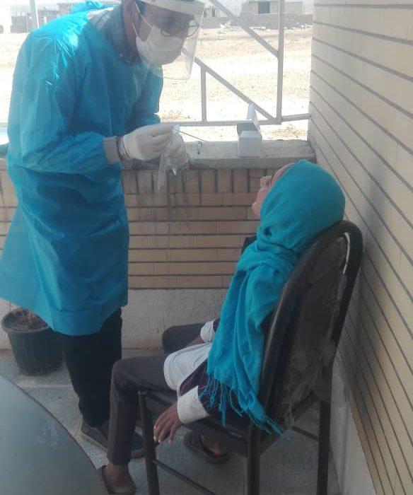 غربالگری کرونا در بین عشایر شهرستان داراب