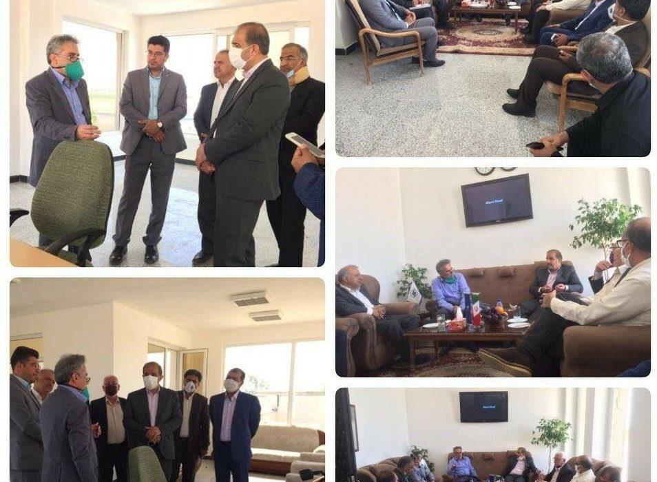 حضور مدیر فرودگاه های فارس در فرودگاه داراب