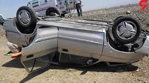 یک کشته و دو مصدوم  در اثر واژگونی پرايد در محور فورگ-داراب
