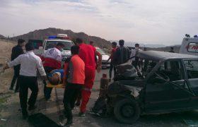 برخورد دو خودرو در محور فرعی غرب داراب ۳ مصدوم برجای گذاشت