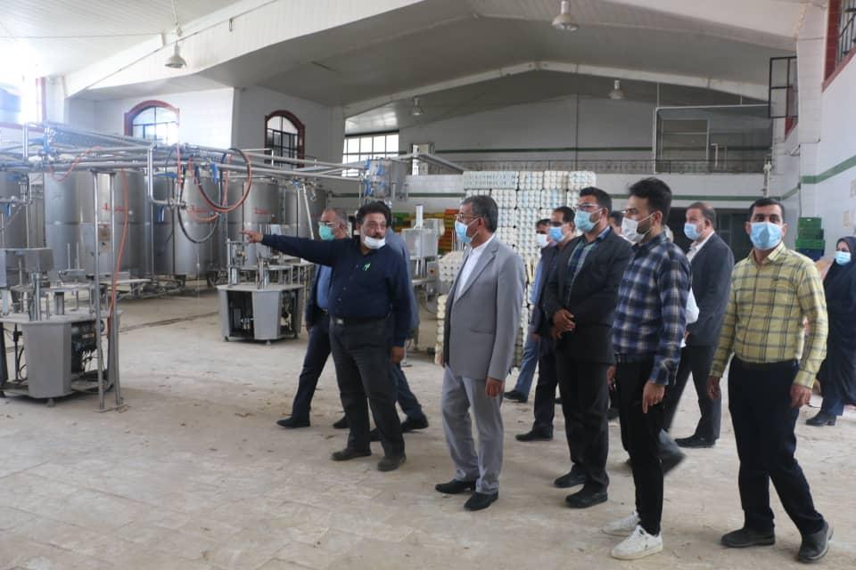 بازدید فرماندار ویژه شهرستان داراب از کارخانه مانیذ لبن