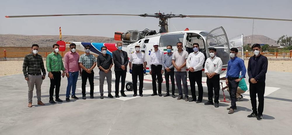 استقرار بالگرد اورژانس هوایی داراب در شهرستان