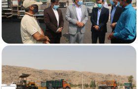بازدید فرماندار ویژه داراب از مراحل تکمیلی پروژه کمربند جنوبی